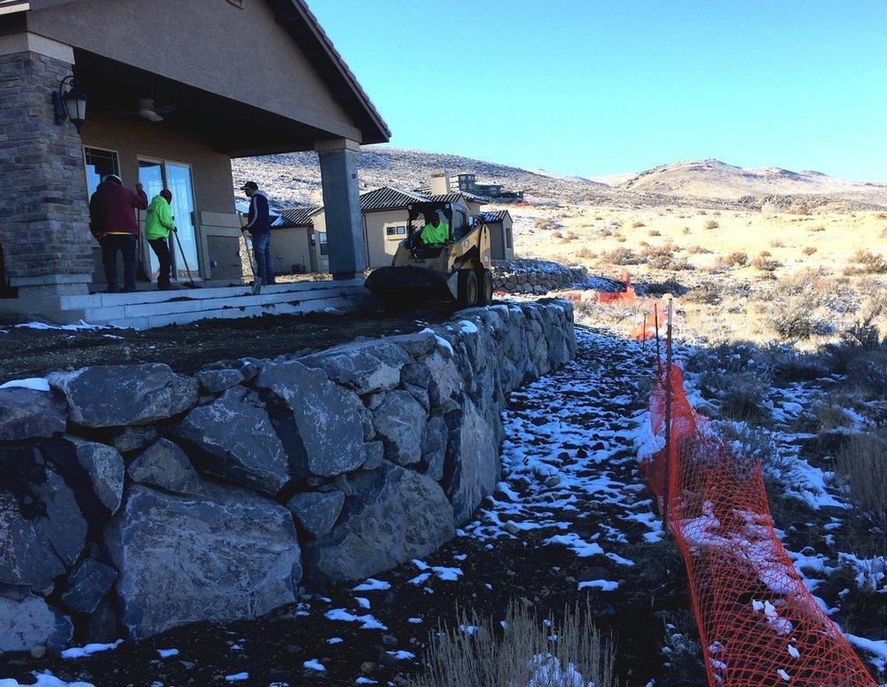 Top retaining wall in Reno, NV