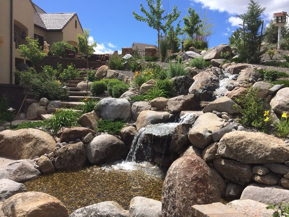Water features and other backyard landscaping services in Reno NV
