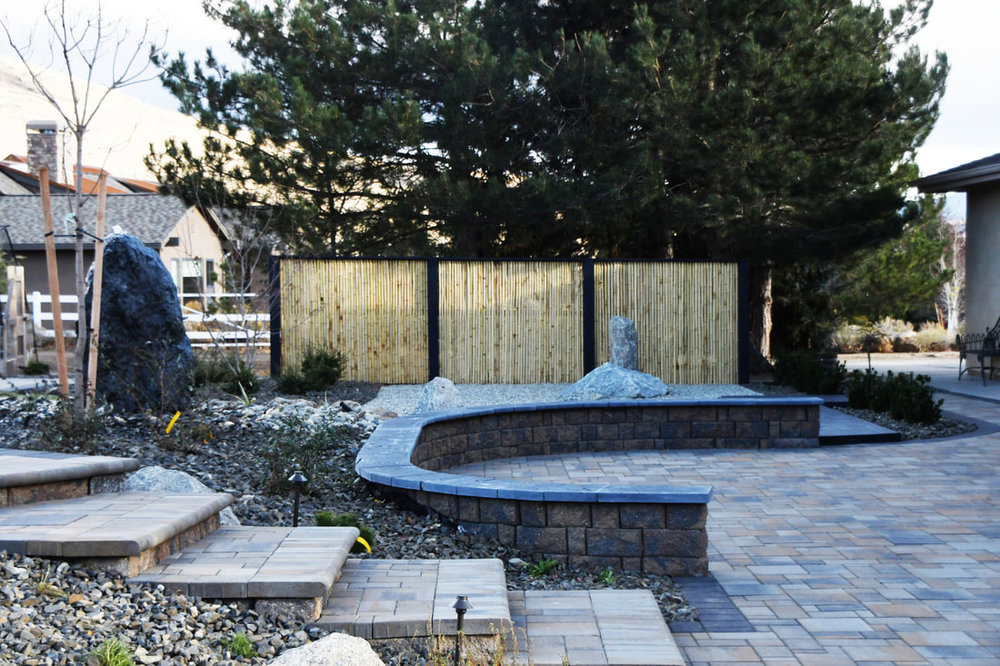 Patio with top quality patio pavers in Reno, Nevada