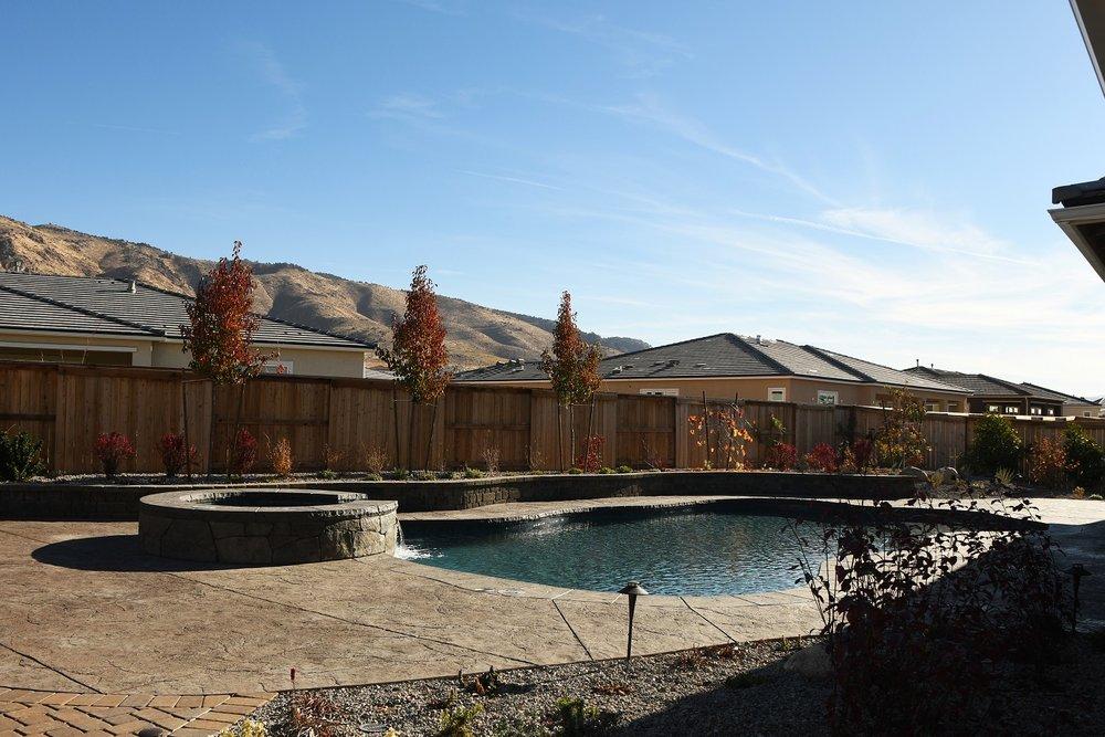 Pool patios, pool and spa in Reno, NV