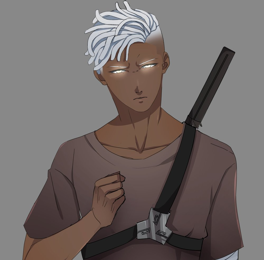 Name: Ray Walker - Aura Color: EggShell White/ Yellow tonesA swordsman in an age where the ways of the sword are long forgotten, Ray is a mysterious man fighting for a brave cause, seemingly untouched by time. He is an aura user with ample expertise in combat and leadership, using his skills in hopes that one day people like him will be free of MetaGen's political grasp. Ray's history, however, is as shady as the night itself, despite his evident path of righteousness. Leading a small crew of Aura User revolutionaries against MetaGen's controlling iron fist in New Sanctum, Ray uses his wisdom, charisma, and experience to his advantage in the long battle for his people's freedom.