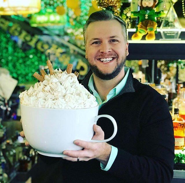 "Nothing says ""top of the mornin' to ya"" better than half a bottle of Jameson in your #irishcoffee 😛 #charmdbar 📸: @jonhansentv"