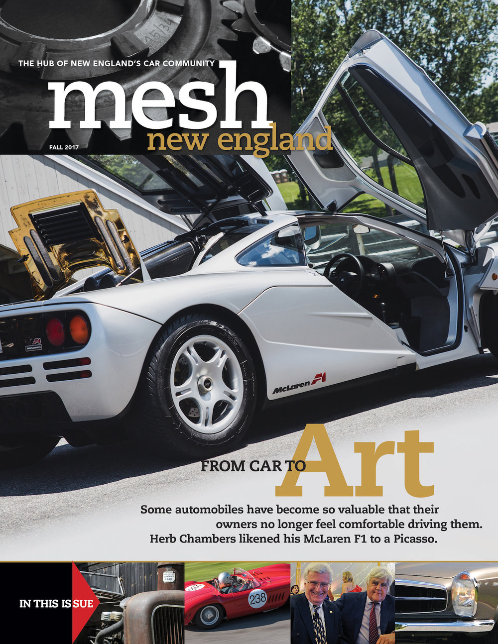Fall 2017 cover of mesh new england magazine with silver mclaren F1 pictured on the front.jpg