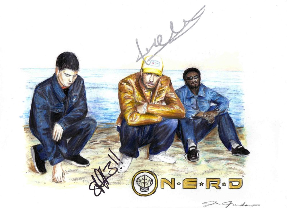 N.E.R.D. (autographed by Pharrell WIlliams & Shae Haley)