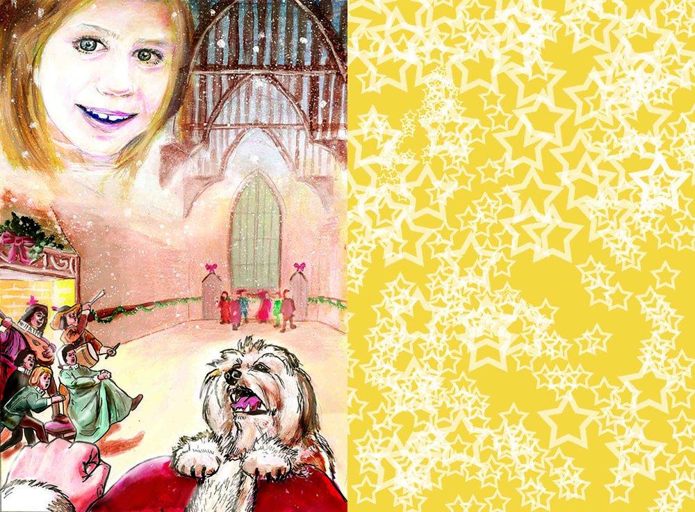 Christmas photomount - inside spread