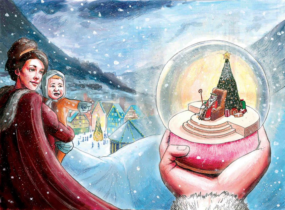 Christmas photomount - back & front cover design