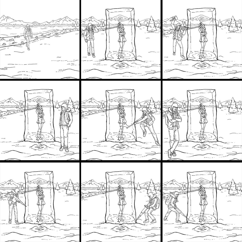 Conquerlove . com advertising illustrations - Can't Break the Ice