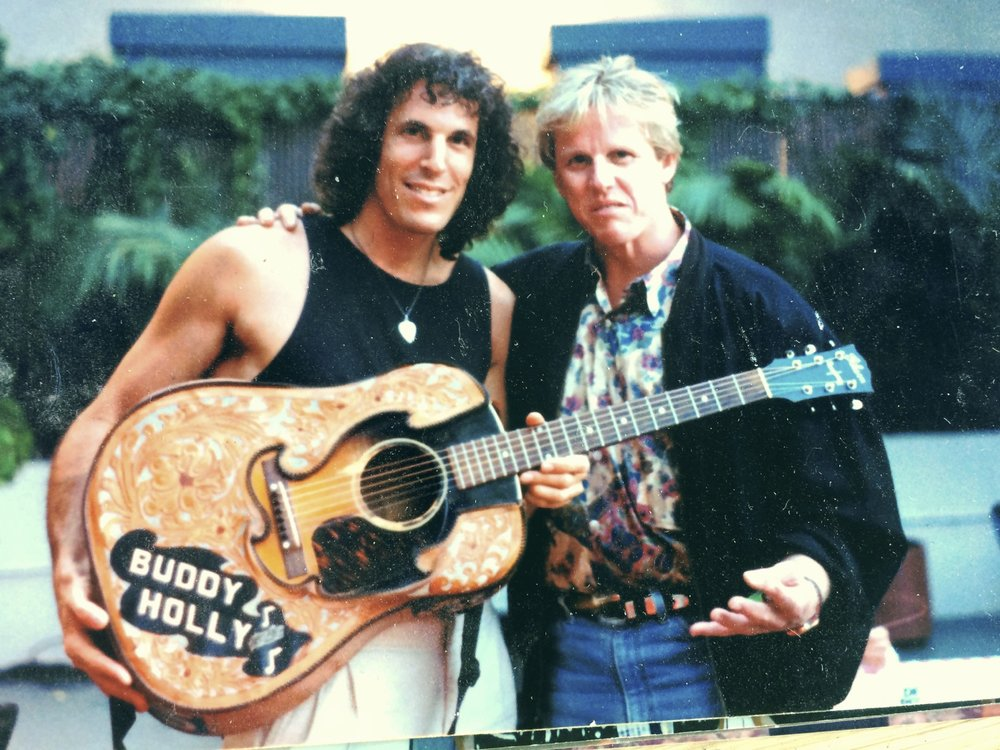 JP w/ Gary Busey & The Buddy Holly Guitar