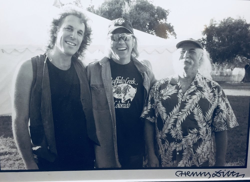 JP w/ David Crosby & Neil Young 2003 Photo: Henry Diltz