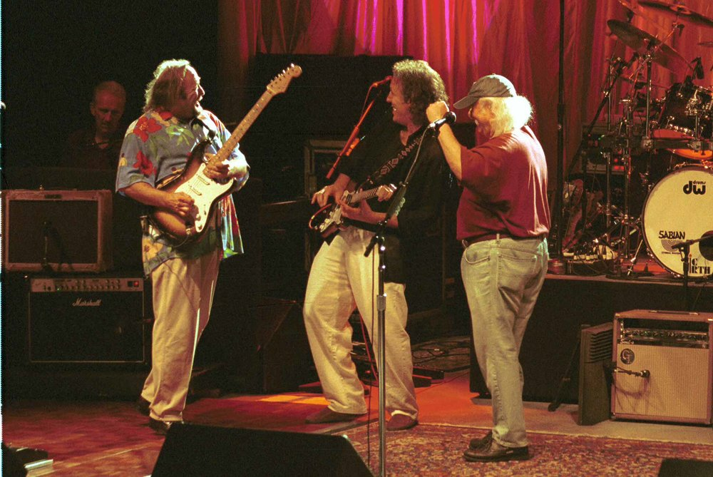 Stephen Stills, Jeff Pevar & David Crosby - Photo: Buzz Person
