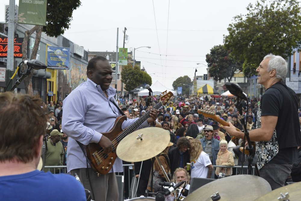 Playing Haight St Festival w/ Tony Saunders & Keystone Revisited