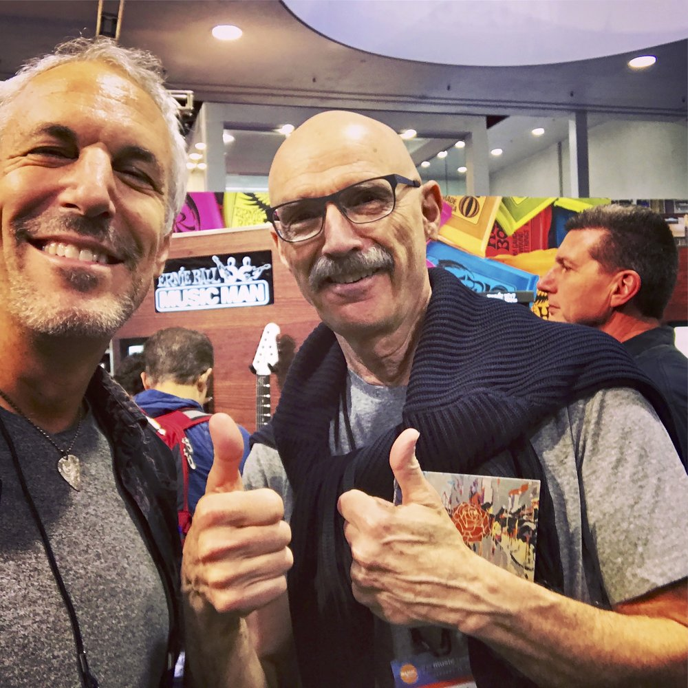 w/ Tony Levin at Namm