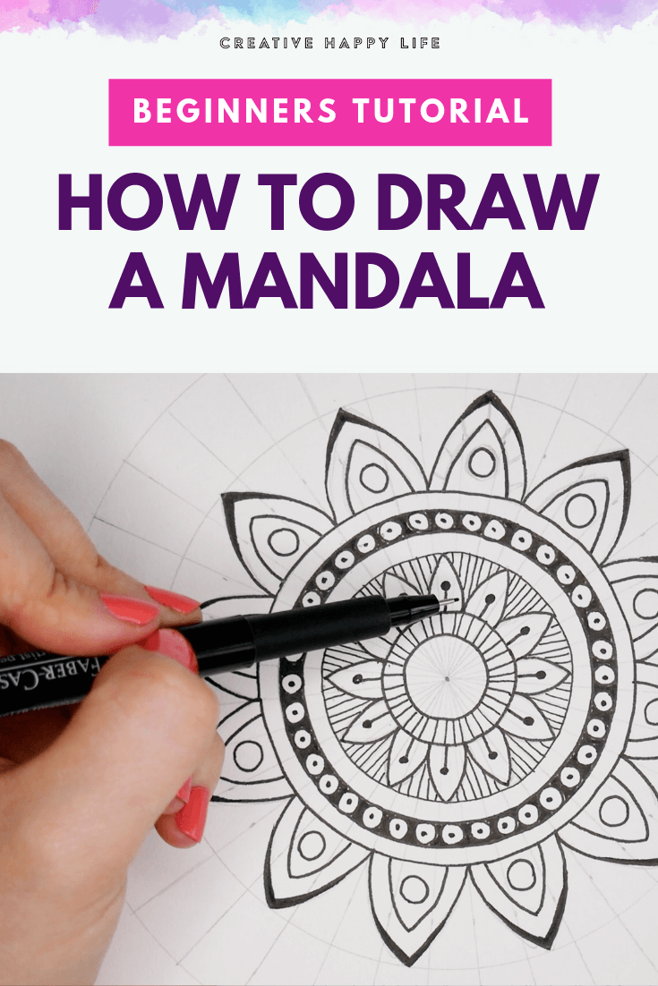 How To Draw A Beginner Mandala Really Easy Drawing Tutorial Classy