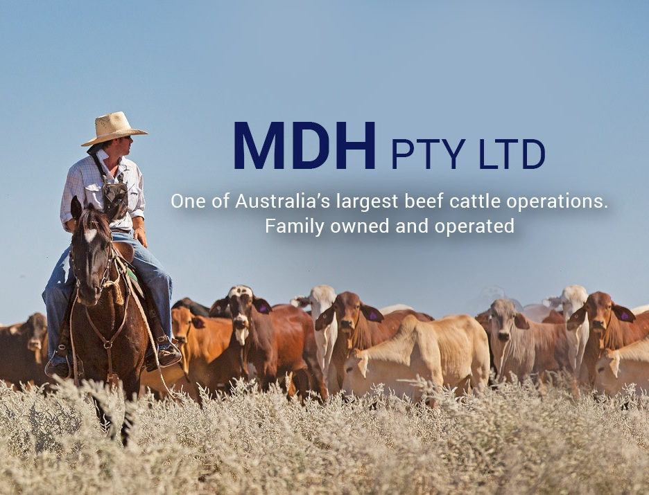 The McDonald family - MDH Pty Ltd is one of Australia's largest beef cattle operations, and its history dates back to 1827. Nowadays, the family owned and operated business runs 175,000 head of cattle across 3.5 million hectares in outback Queensland. MDH is well known for strongly supporting and leading research and development within the beef industry.