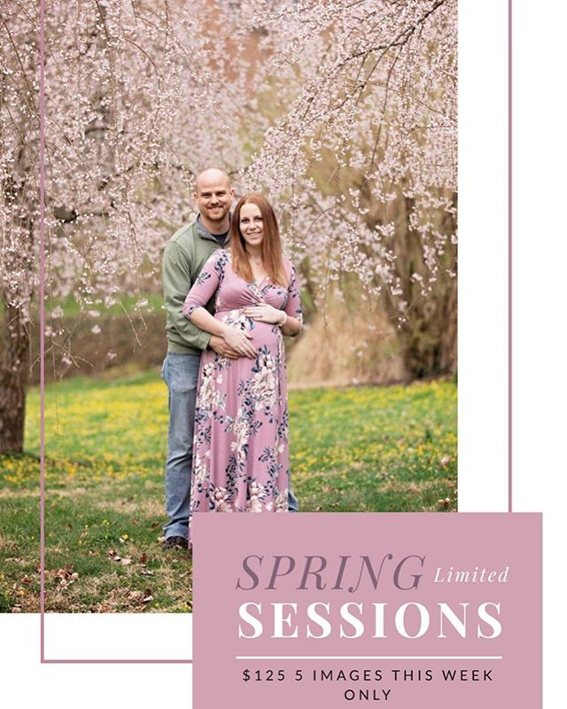 I never offer discounted Spring Outdoor Sessions BUT here is your chance to snag one and squeeze a session in before Easter! I am only offering 5! Info@goldmoosephotography.com