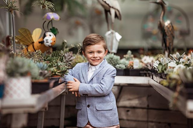 I am a little bias but he is the cutest little 4 year old I ever did see! #goldmoosephotography #greenhousesession #greenhouse #succulents #president2054