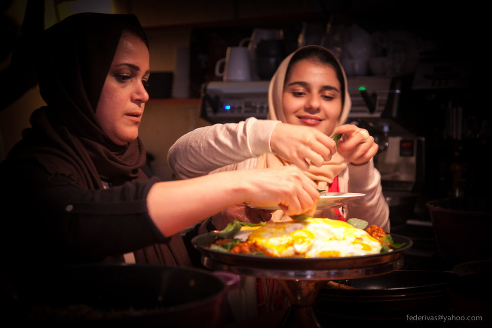 Migrateful runs regular workshops where refugees share their native cuisines with the guests.