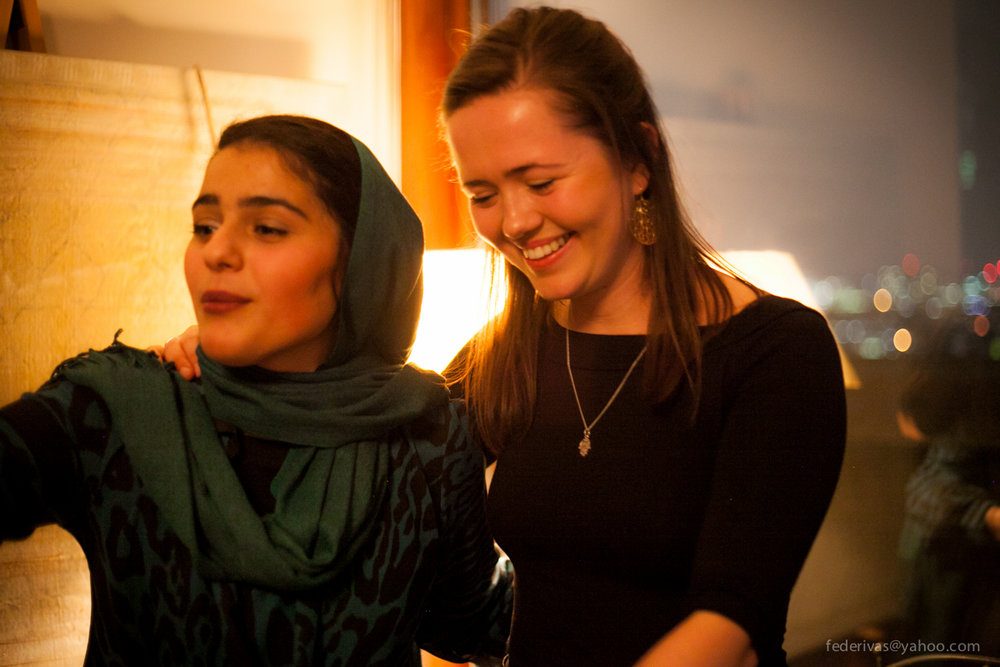 Jess Thompson set up the charity Migrateful in 2017 and works with people like Parastoo, who migrated from Iran, to support them in the UK.