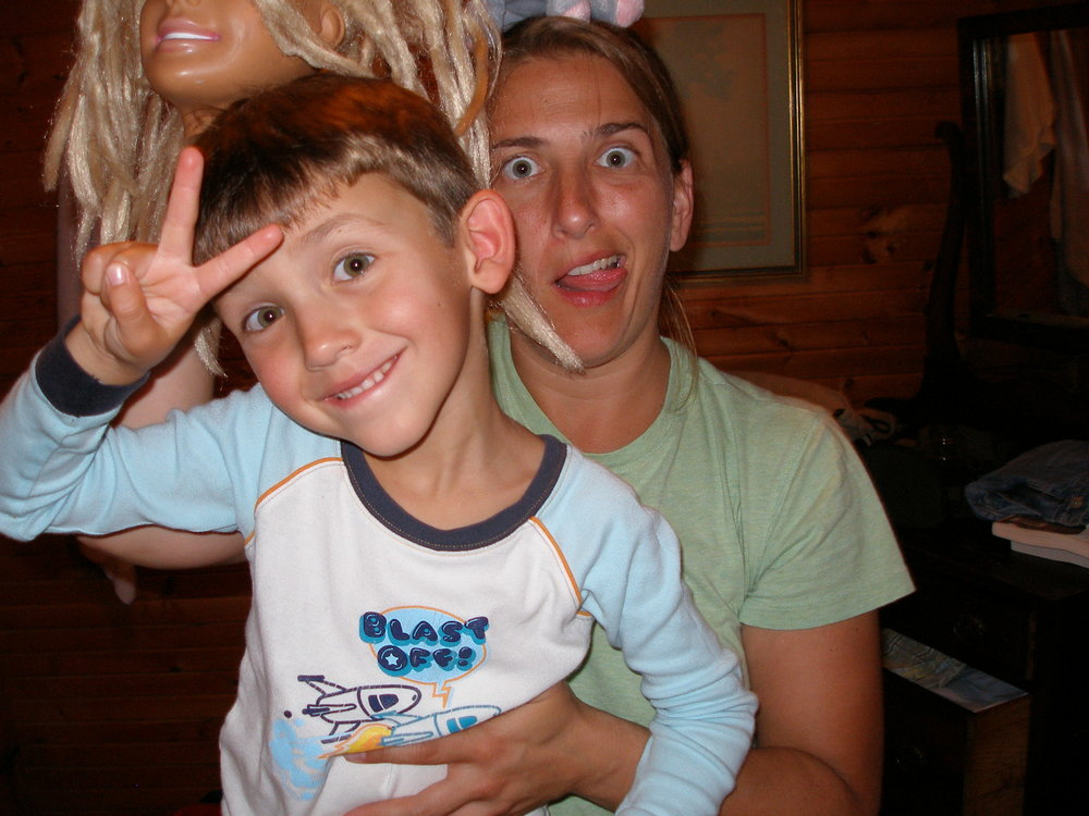 Being silly with my nephew