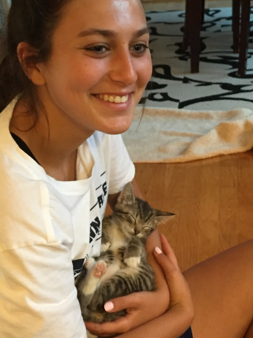 My niece Claire with Ollie