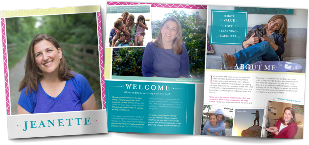 Adoption Profile Book for loving single mother hoping to adopt