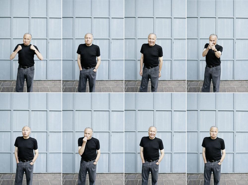 Angelo Gaja. Legendär. Ein Mann, ein Hintergrund, eine Kamera. Manchmal braucht es für ein gelungenes Porträt eher eine gute Idee, als profane Postkartenidylle.