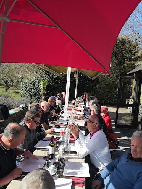 Ryder Cup d'hiver Anjou Golf déjeuner sur terrasse
