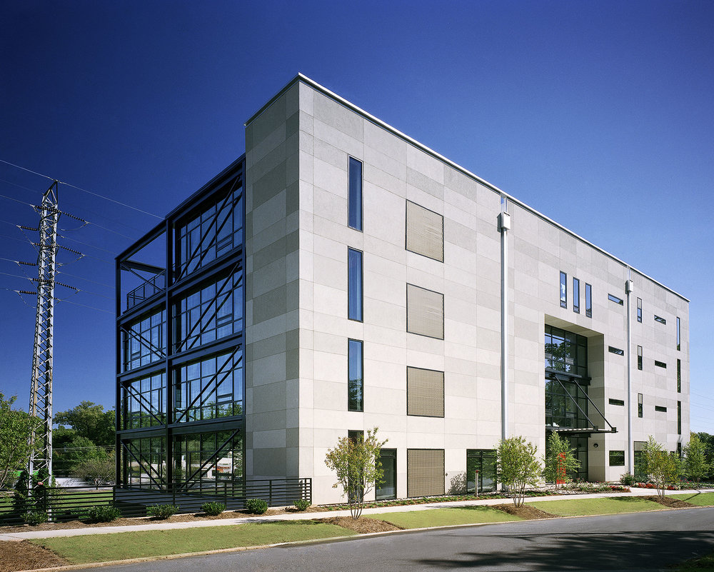 Glass Office Building exterior image west side