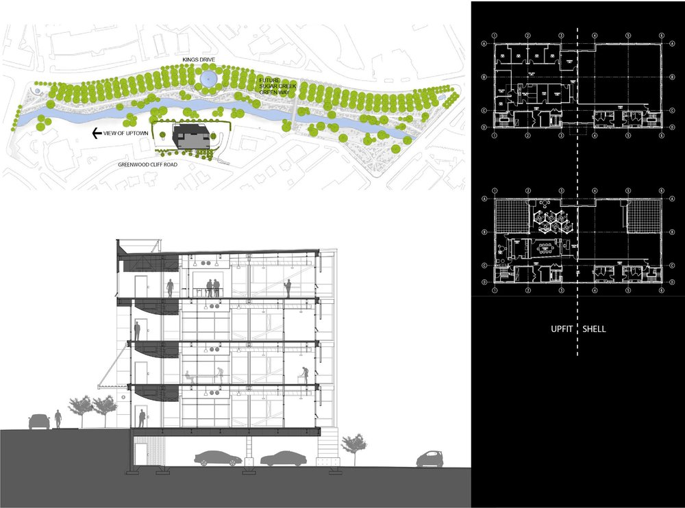 Glass Office Building image architectural plan