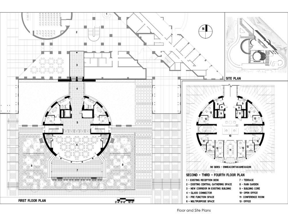 North Carolina Biotechnology Center Office | Architecture Blueprint | Building Floorplan