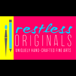 Restless Originals by Steph Swift   specializes in a wide-range of styles and artistic media, but especially indoor and outdoor murals, colorful illustrations, and hanging wall art.