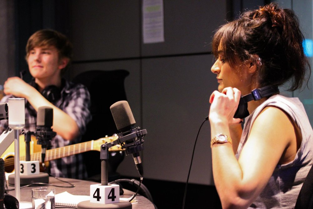 PERFORMING LIVE ON RADIO -