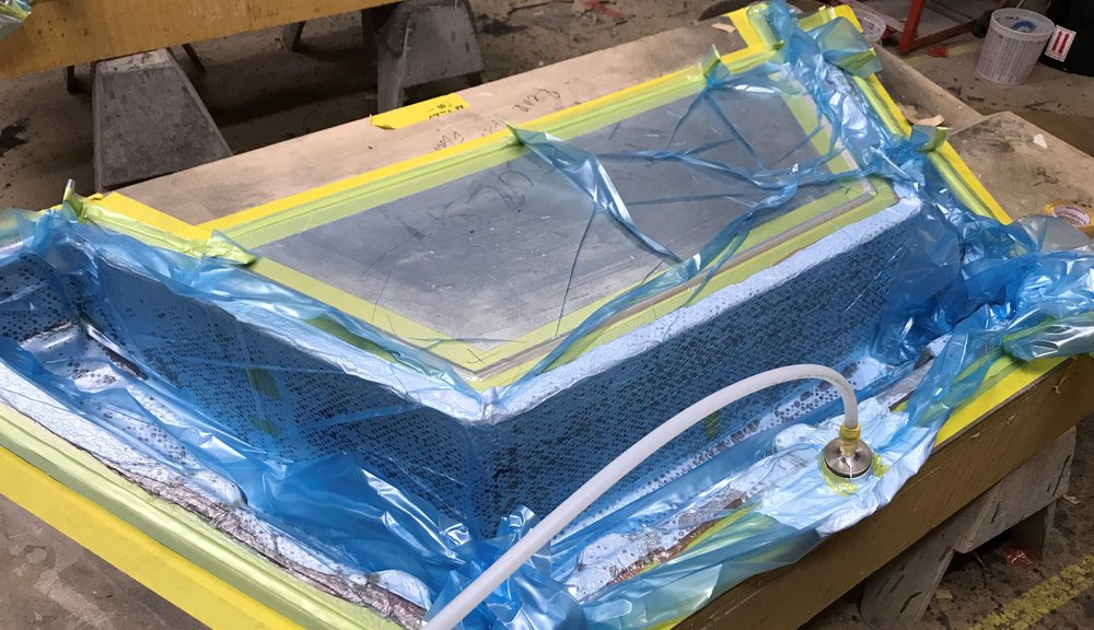Example of a Vacuum Bagged Automotive Part at Newport Laminates