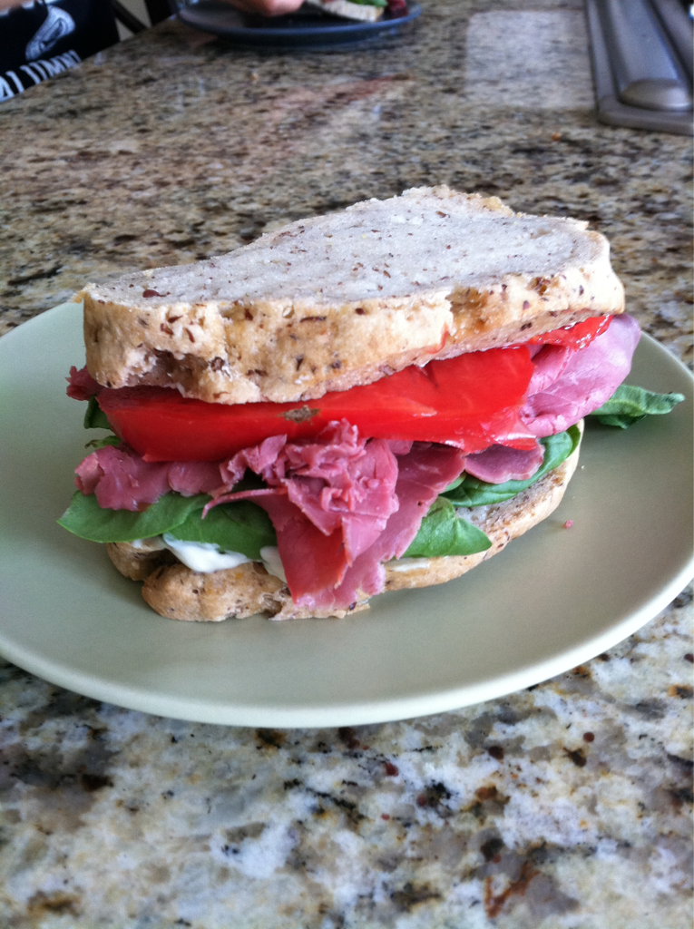 """Made some amazing gluten free vegan bread yesterday. My recipe was adapted from my new book """"Healthy Bread in Five Minutes a Day."""". It has such great bread recipes including a gluten free section. I have to adapt the recipes because the recipes are not vegan. I am looking forward to trying out more recipes. Meanwhile, my kids are enjoying a great looking and tasting sandwich that is gluten free, dairy free, and egg free."""