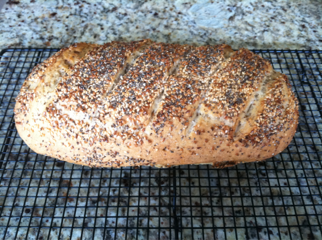 Gluten Free Vegan Seeded Bread My kitchen smells so good right now! Nothing is better then fresh baked bread from the oven. This is not such an easy thing when you are eating gluten free. I am getting myself ready for my gluten free bread baking class coming up this fall. I am perfecting my recipes and techniques so my family is getting to enjoy fresh bread almost daily. The breads are coming out so good and so close to the real thing in both taste and texture. I have used the dough to make regular bread loaves, French baguette, pizza crust and even the cinnamon buns I posted last week. So get ready everyone to eat real bread again. These breads will make those eating gluten free and those that aren't equally satisfied.