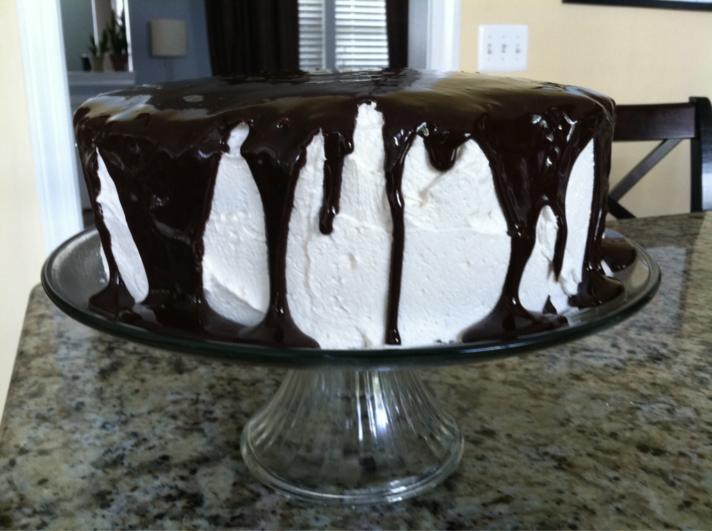 """Gluten Free Vegan Chocolate Fudge Cake with """"Buttercream"""" Frosting My brother is coming over today and I am going to make him dinner to celebrate his birthday which was yesterday. So here is a picture of one of my best cakes. I have made this cake before for people who weren't vegan or gluten free. This cake is always a huge hit with everyone."""