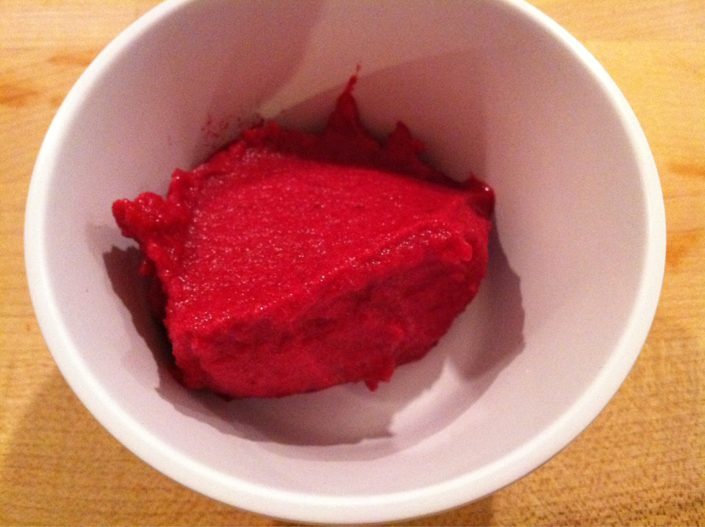 Beet Sorbet. This was the best sorbet I have ever had. It was the most perfect texture and sweetness. Really a special treat.