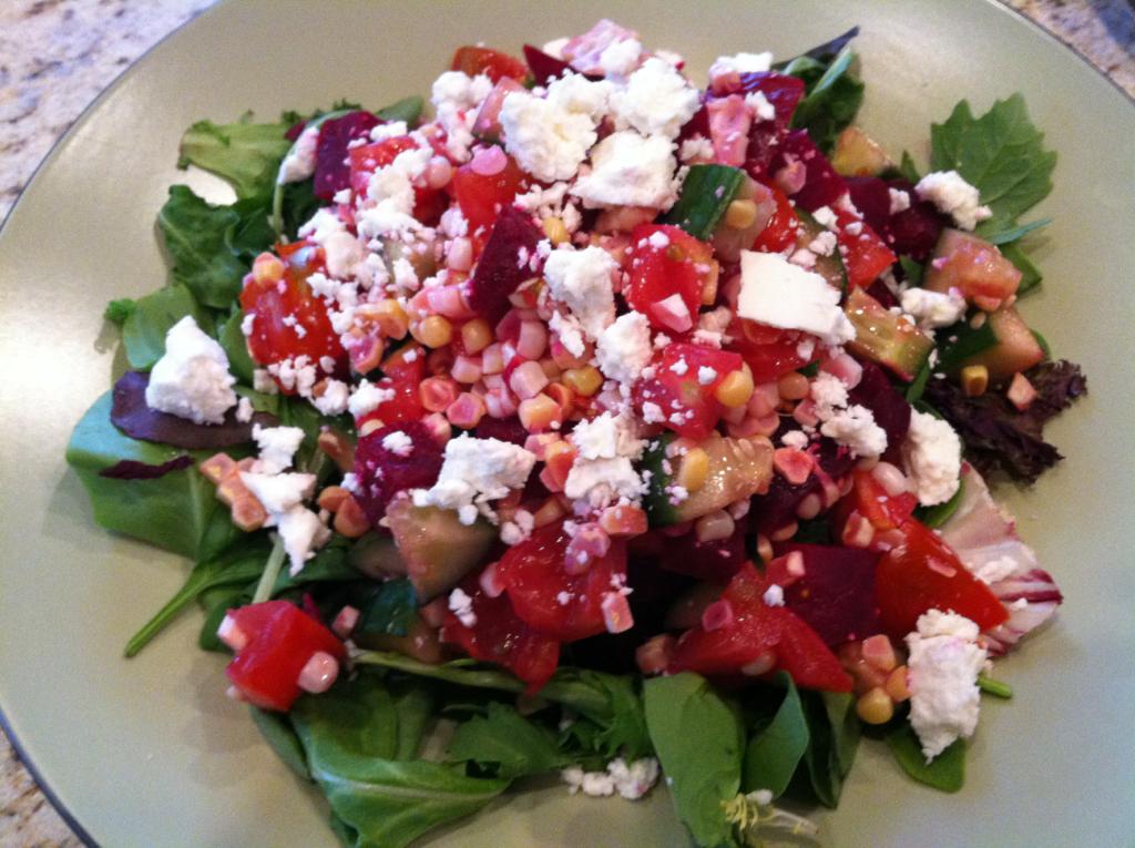 Roasted beet salad.