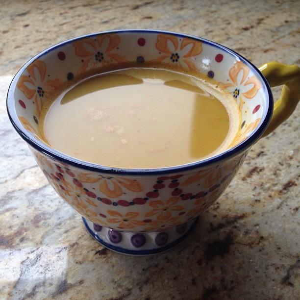 Sweet Turmeric Tea, my little afternoon break.