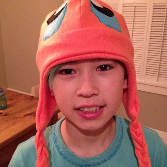 Making hats for the kids #pokemon #charmander