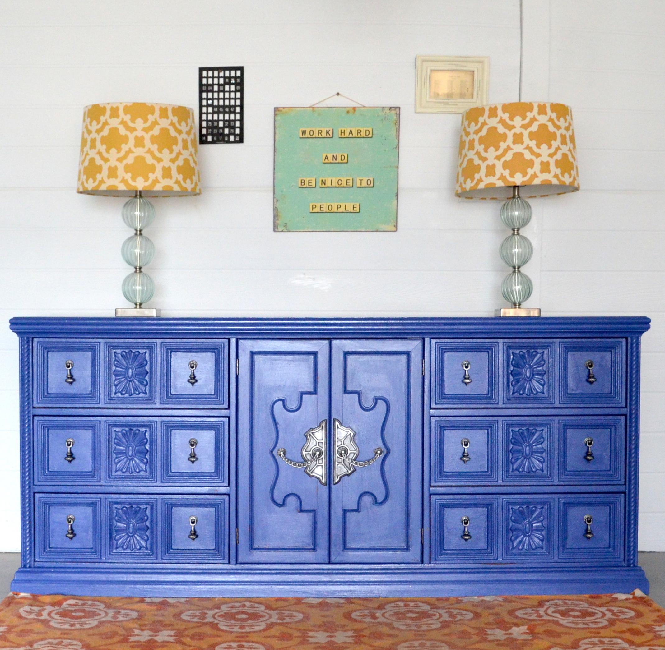 CeCe Caldwell Maine Harbor Blue Dresser 1