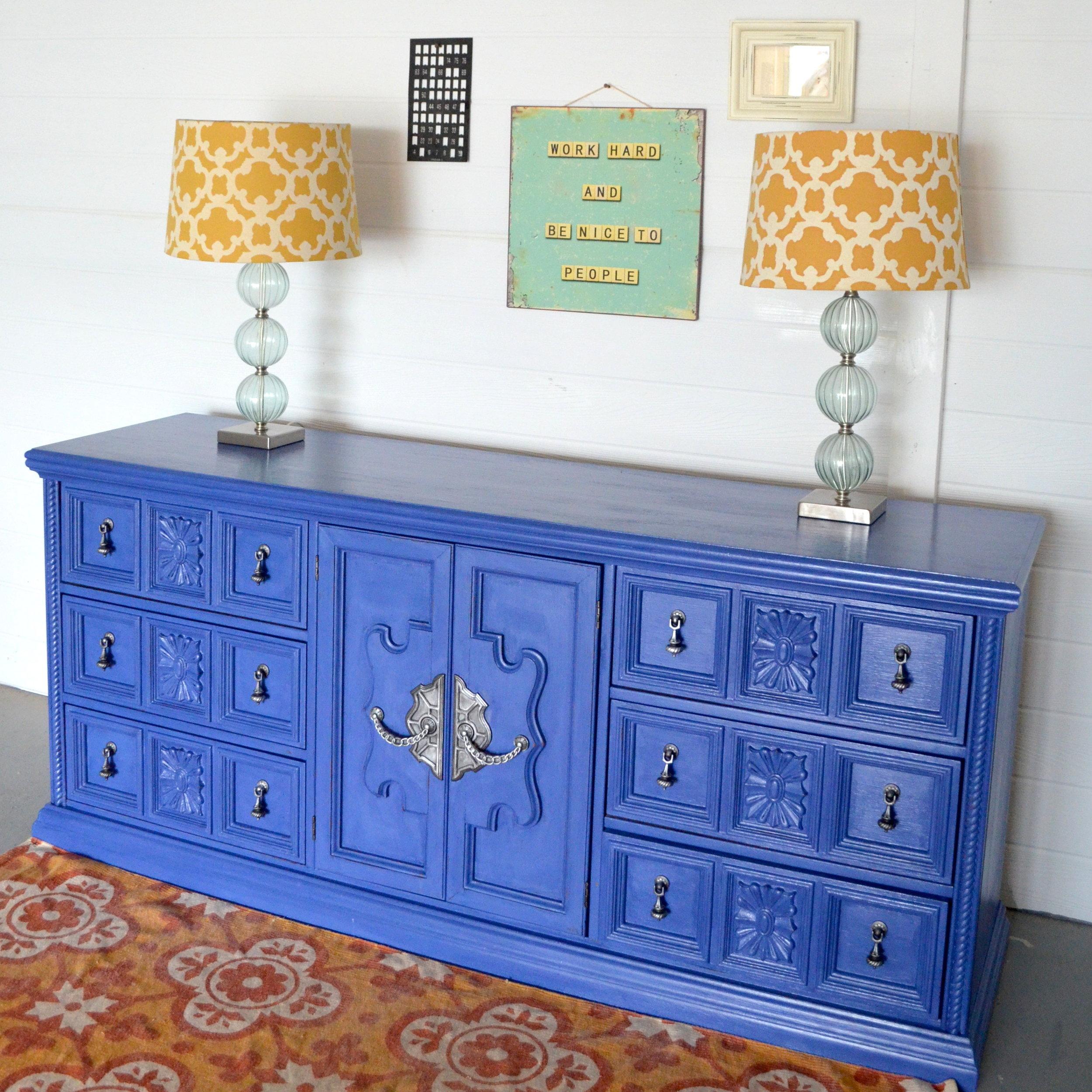 CeCe Caldwell Maine Harbor Blue Dresser 2