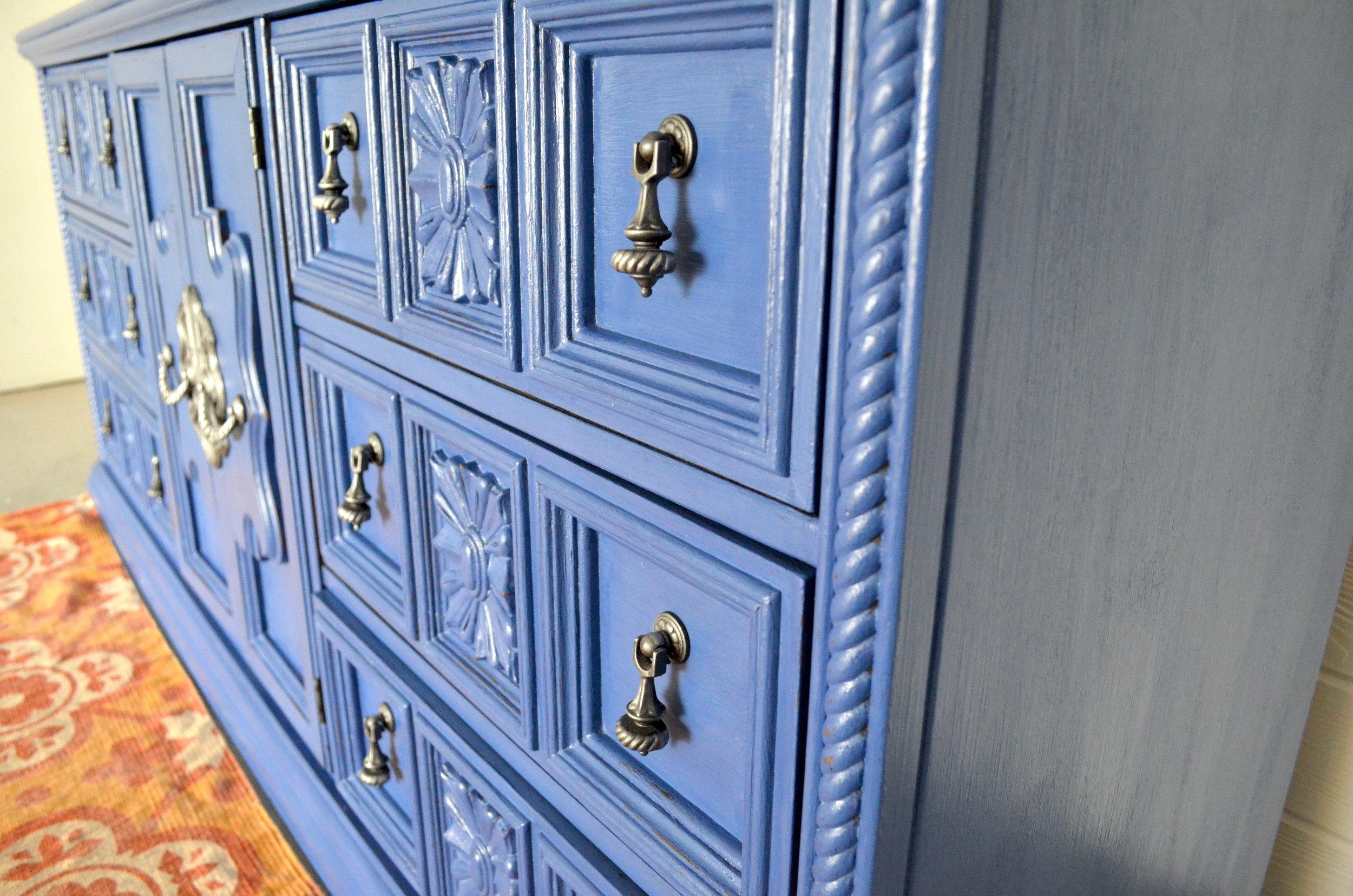 CeCe Caldwell Maine Harbor Blue Dresser 3