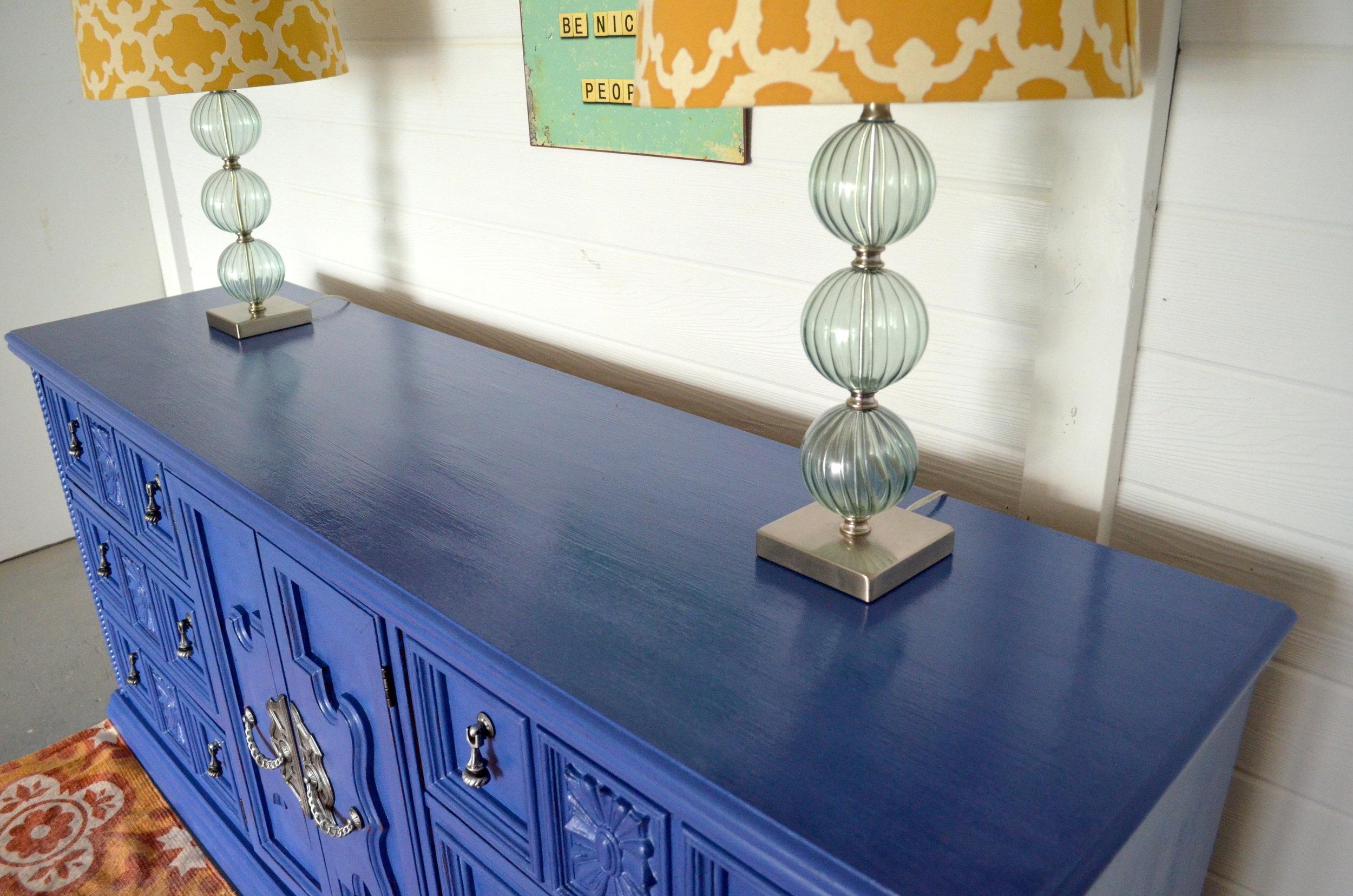 CeCe Caldwell Maine Harbor Blue Dresser 4