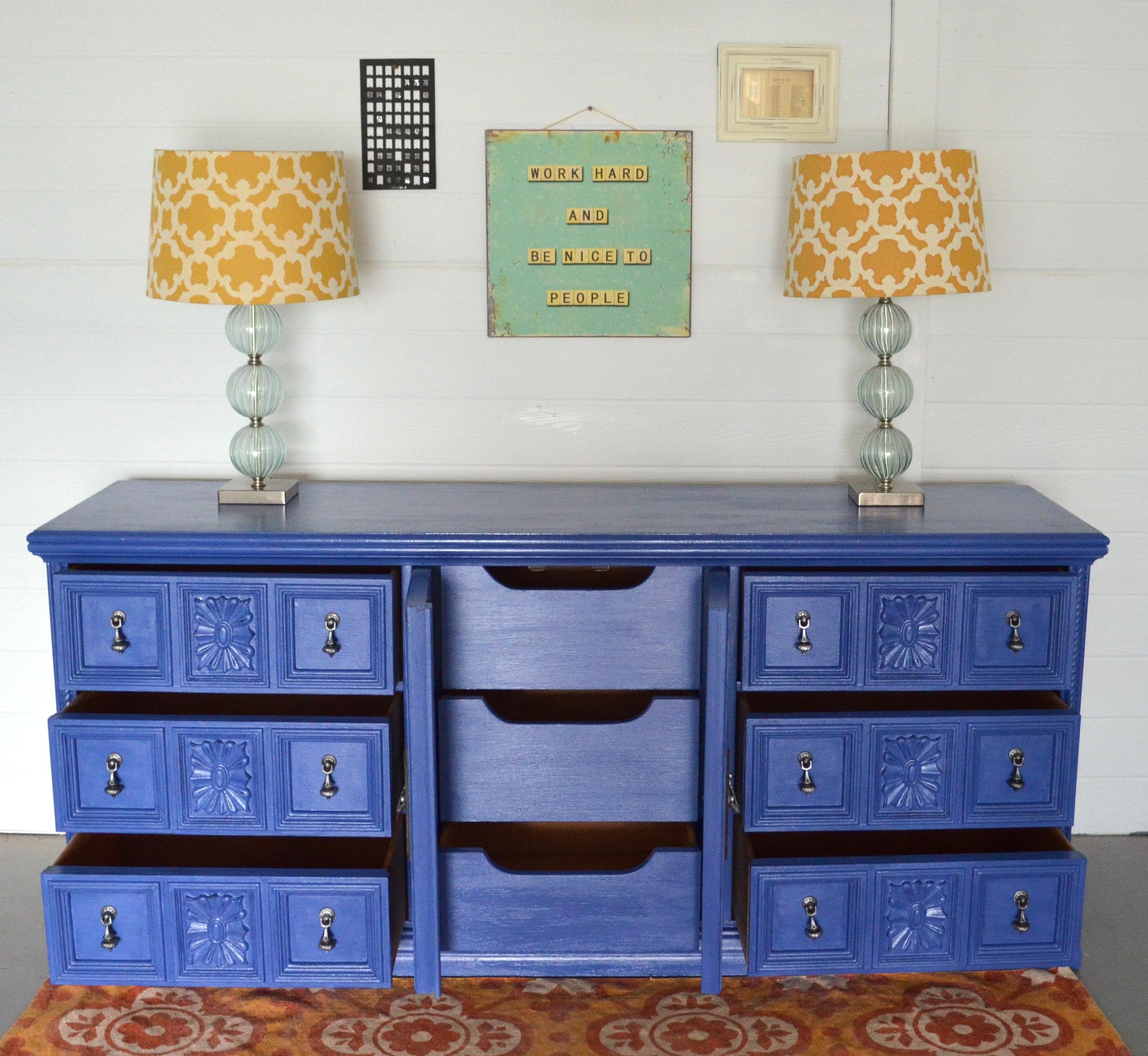 CeCe Caldwell Maine Harbor Blue Dresser 5