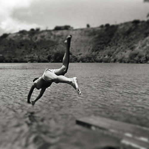 Photo - Dive In B&W