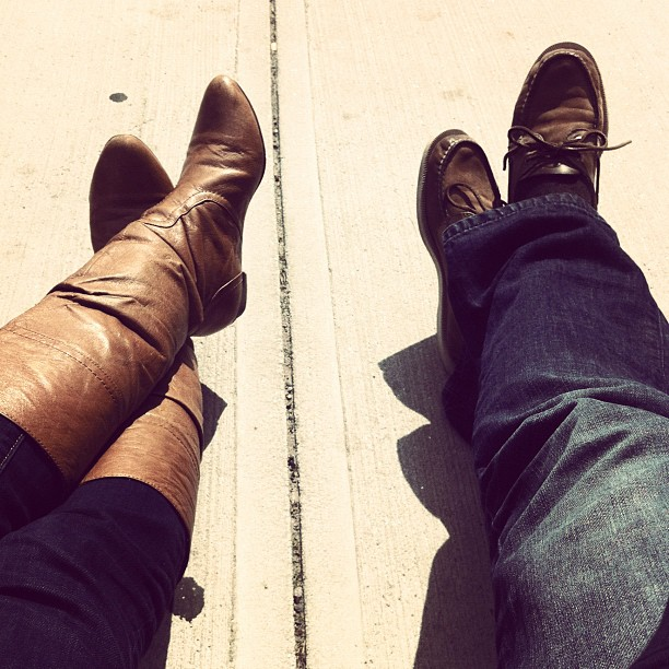 image - kicking our feet up