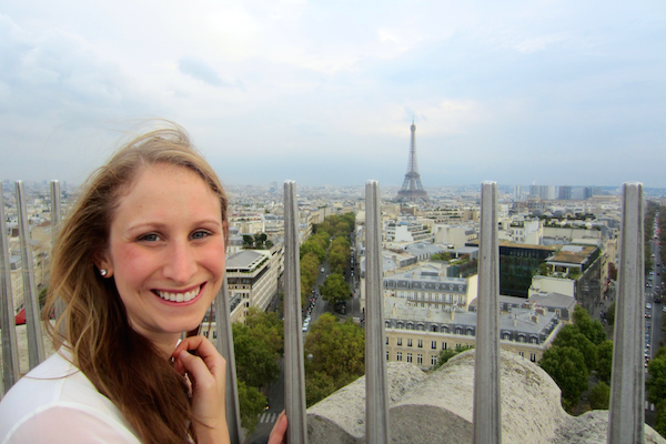View from the Arc de Triomphe | Europe Trip - Highlights from Paris | kaileenelise.com