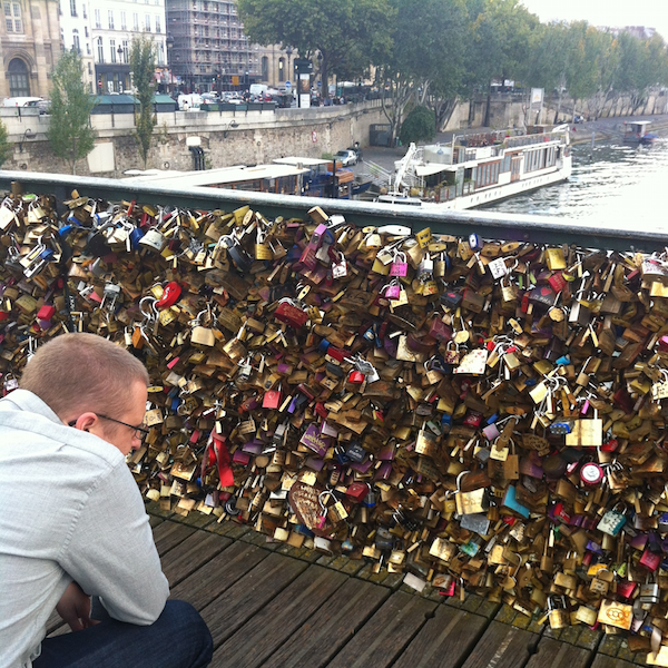 Love Lock Bridge | Europe Trip - Highlights from Paris | kaileenelise.com