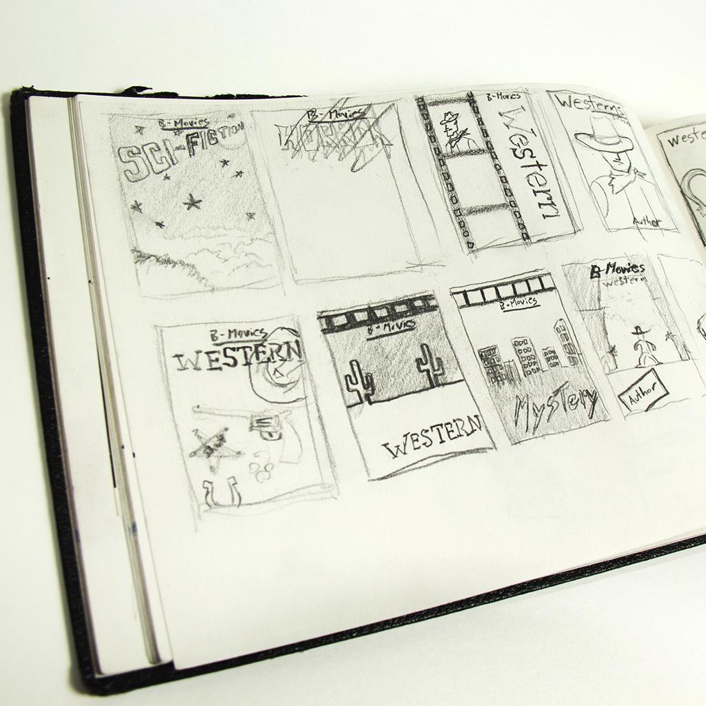 Graphic design roughs